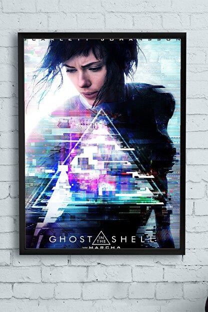 Postermanya Ghost In The Shell - Film Afişi Çerçeveli Tablo (40x50cm)