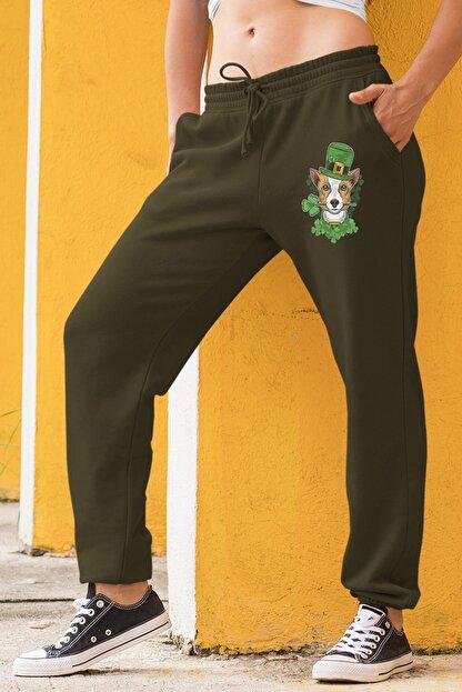 Angemiel Wear Şapkalı Köpek Erkek Yeşil Kadın Eşofman Altı