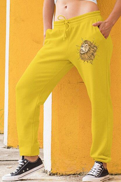 Angemiel Wear Unicorn Aslan Sarı Kadın Eşofman Altı