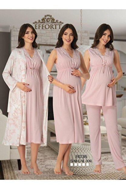 Effort Pijama Effort 8036 Hamile Dörtlü Takım