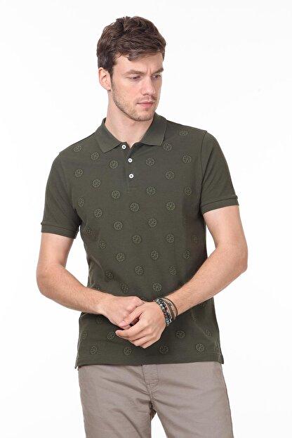Ramsey Erkek Haki Desenli Örme T - Shirt RP10119909