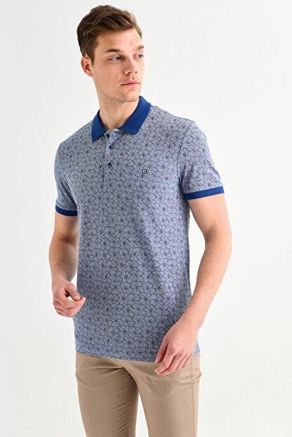 Avva Polo Yaka Çiçek Baskılı T-Shirt