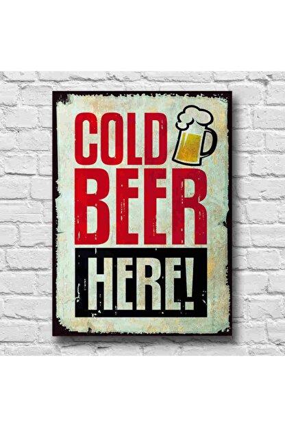 RETRO TABLO Cold Beer Retro Tablo