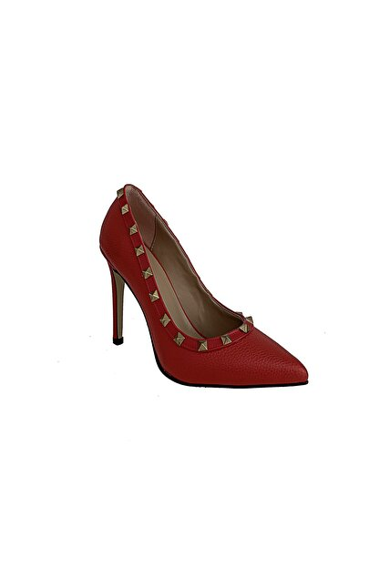 Beggi Kadın Kırmızı Ince Topuklu Ayakkabı