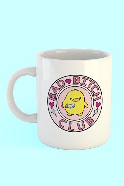 Printhome Bad Bitch Club Baskılı Kahve Kupası