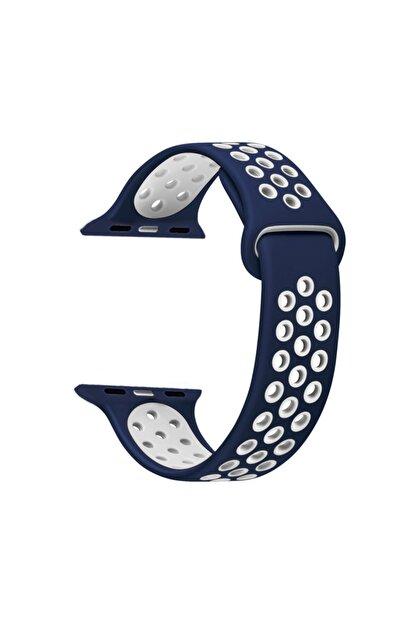 Microsonic Apple Watch Series 2 42mm Rainbow Sport Band Kordon Prusya Mavisi