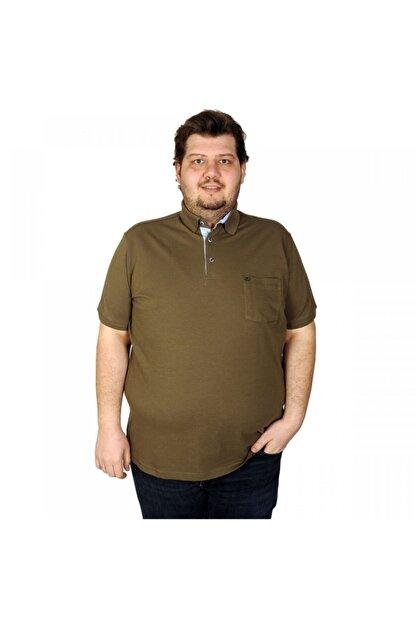 ModeXL Büyük Beden Erkek Classic Cepli Pike T-Shirt 20552