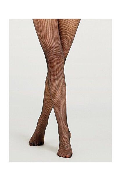 Suwen File Külotlu Çorap - Siyah