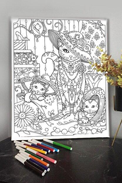 KanvasSepeti 40x30cm Çocuklar Için Boyanabilir Tuval Keçeli Kalem  11