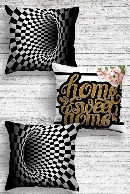 Otto Home Premium Dekoratif 3lü Kırlent Kılıfı