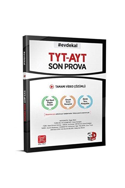 3D Yayınları Tyt Ayt Son Prova Denemesi