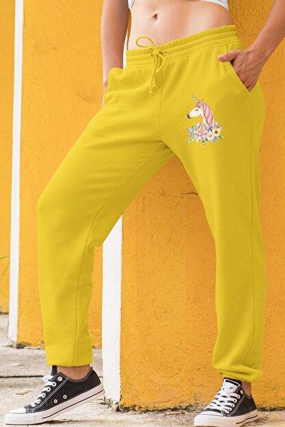 Angemiel Wear Born To Be Arthem Sarı Kadın Eşofman Altı