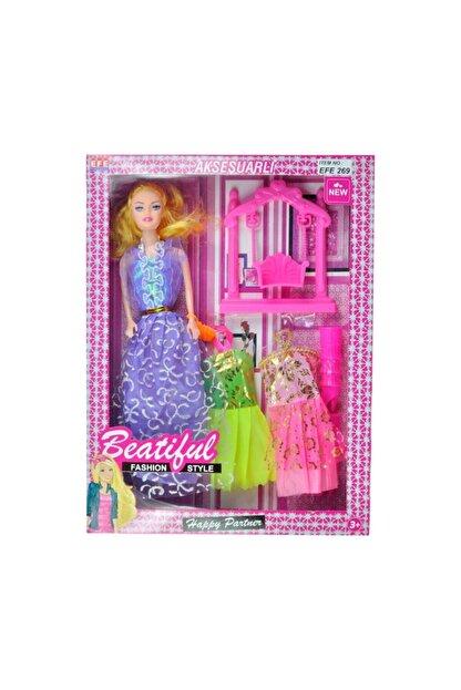 Barbie Kaliteli Beautiful Et Bebek Aynalı Ayakkabılı Taraklı 6 Parça