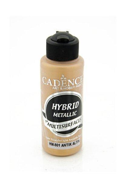 Cadence Boya HM-801 Metalik Antik Altın Renginde Akrilik Boya 120 Ml