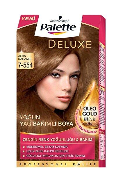 Palette Deluxe Kit Saç Boyası - 7-554 Altın Karamel