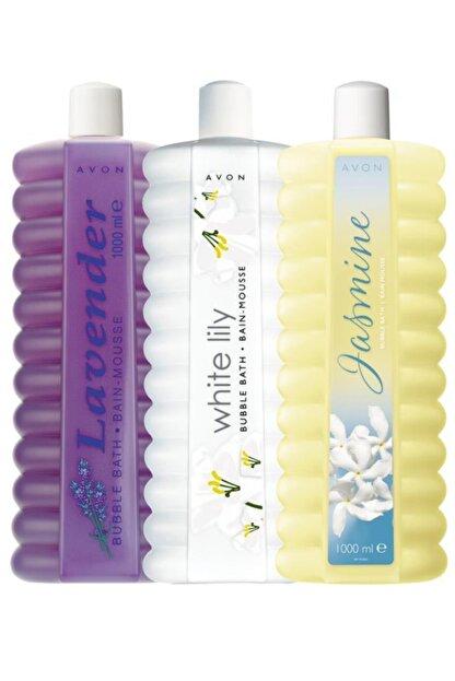 Avon Lavanta + Zambak + Yasemin Kokulu Banyo Köpüğü Seti 1000 ml