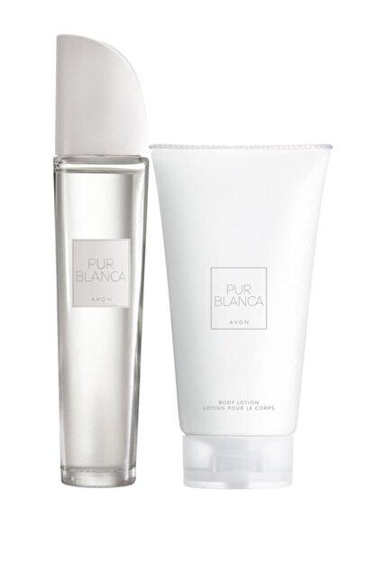 Avon Pur Blanca Kadın Parfüm Edt 50 ml. Pur Blanca Vücut Losyonu 150 ml. 5050000010948