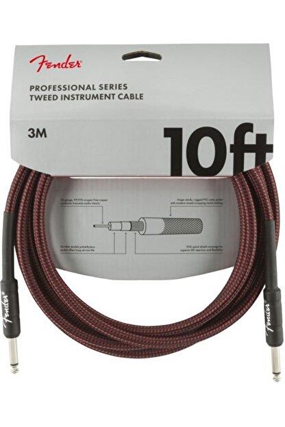 FENDER Professional 3 Metre Kırmızı Tweed Kablo