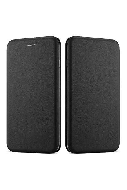 CaseUp Huawei Honor 10 Lite Kılıf, Manyetik Stantlı Flip Cover Siyah