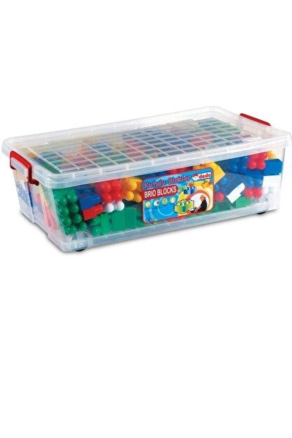 DEDE Eğitici Çocuk Oyuncak Kutulu Bloklar Oyuncak Lego 72 Parça