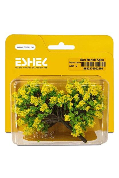Jordania Eshel 10 cm 2'li Sarı Renkli Ağaç