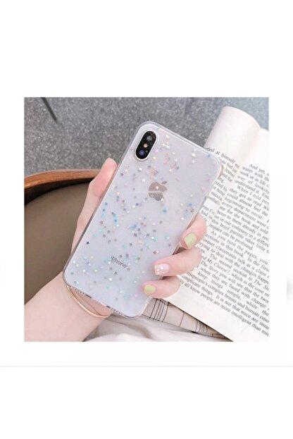 Kılıfsiparis Apple Iphone Xs Max Şeffaf Simli Silikon Telefon Kılıfı