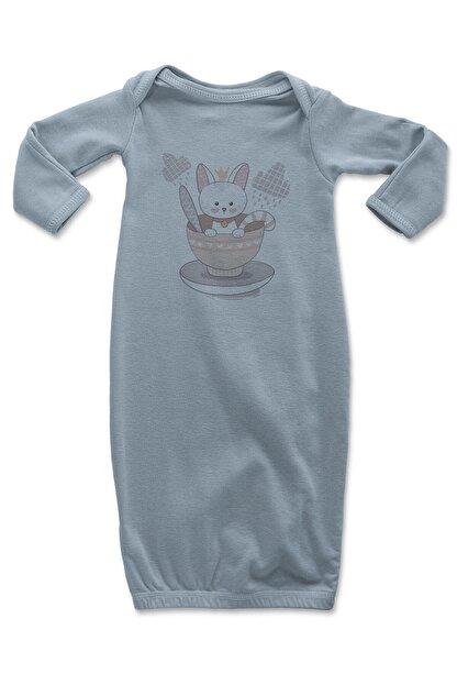Angemiel Baby Kasedeki Tatlı Tavşan Erkek Bebek Uyku Tulumu Mavi