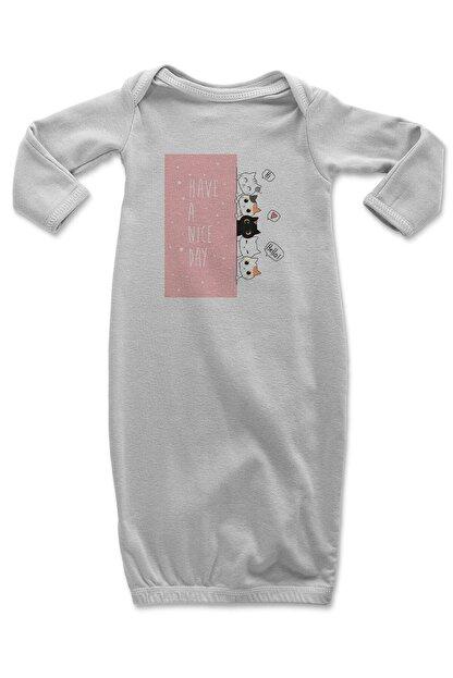 Angemiel Baby Şirin Kediler Erkek Bebek Uyku Tulumu Beyaz