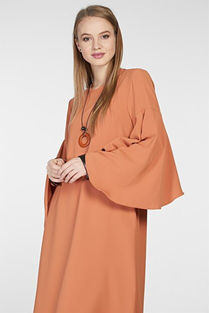 Nihan Kadın Kol Nervür Detaylı Tunik Tarçın 9A3027