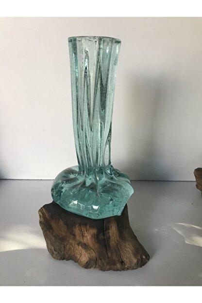 YAHŞİ Cam Vazo, Eritme Cam , Kütük Vazo , El Yapımı Özel Vazo