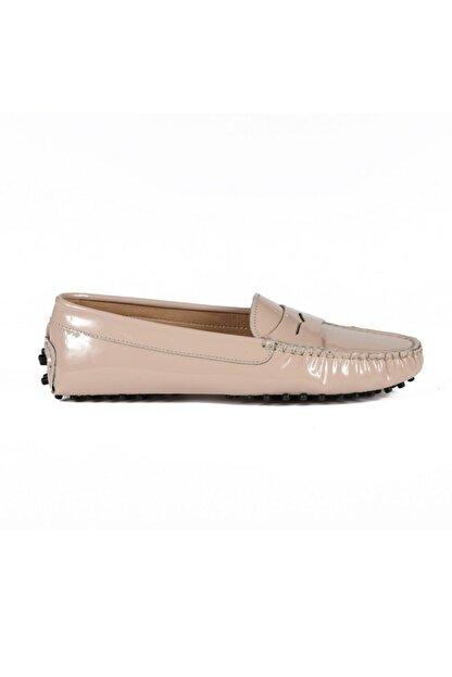 Sofia Baldi Kadın Colover Bej Rugan Loafer Ayakkabı