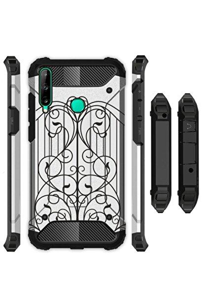 Cekuonline Huawei P40 Lite E Kılıf Desenli Antishock Crash Kapak - Kapı