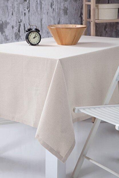Wellstil Düz Keten Otantik Masa Örtüsü 100x100 cm