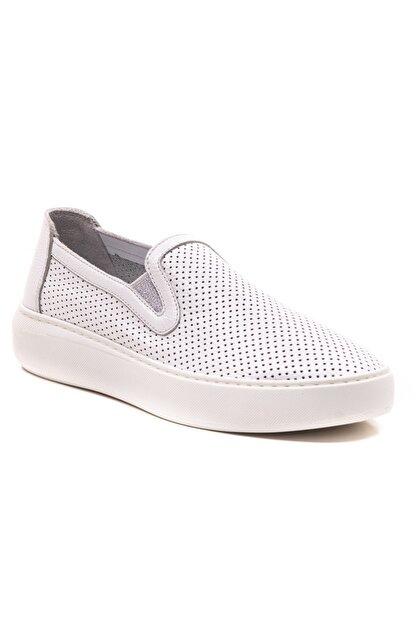 GRADA Beyaz Mokasen Hakiki Deri Kadın Ayakkabı