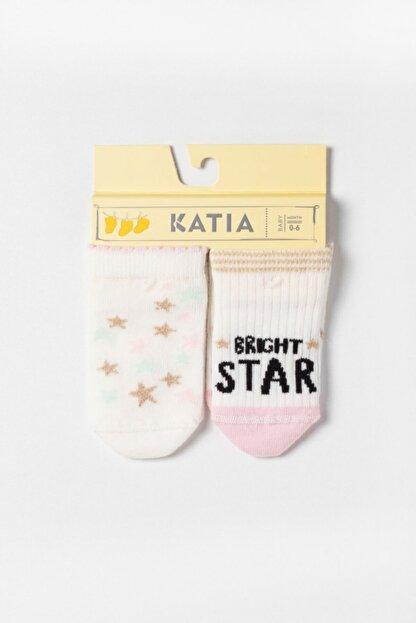 Katia & Bony Ocean Odyssey Star 2 Pck. Bebek Çorap - Ekru