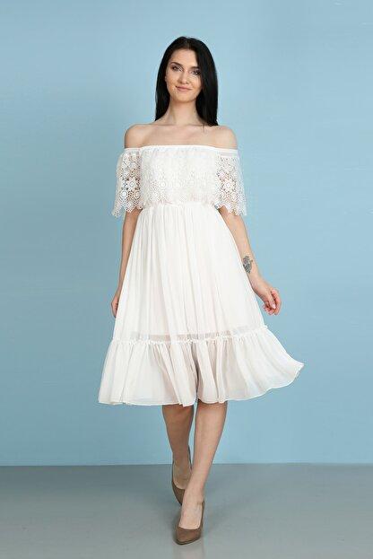 Element's Güpür Detaylı Koldan Sarma Elbise