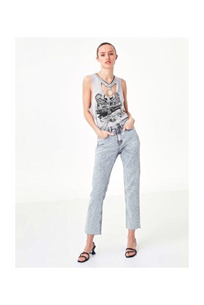 Twist Kadın Taş Cut Out Detaylı Tshirt TS1200070208030