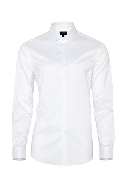 Germirli Non Iron Beyaz Twill Klasik Yaka Tailor Fit Gömlek