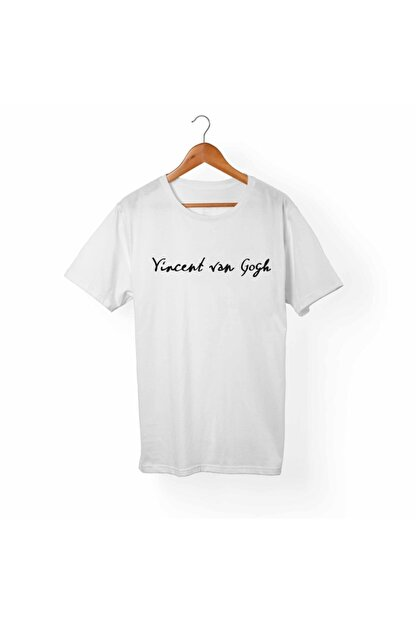 Alfa Tshirt Unisex Çocuk Beyaz Van Gogh Tişört