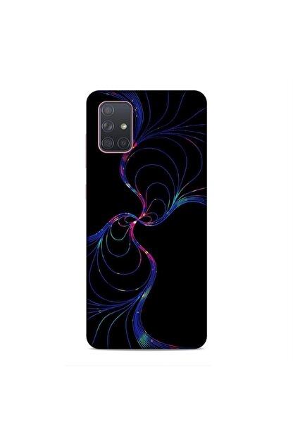 Pickcase Samsung Galaxy A71 Kılıf Desenli Arka Kapak White Işık