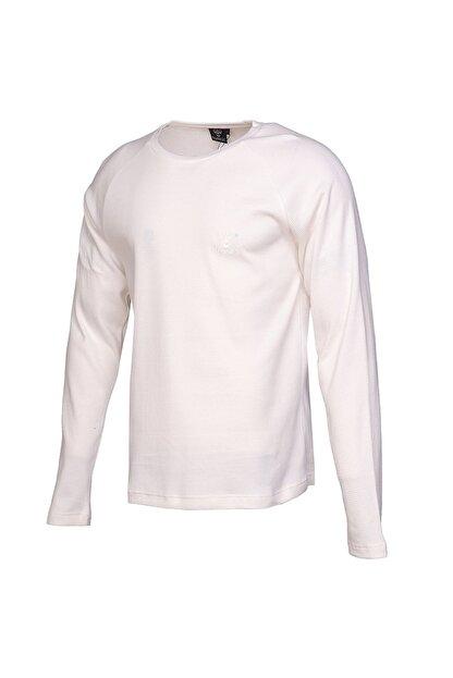 HUMMEL Erkek Beyaz Uzun Kollu Tişört