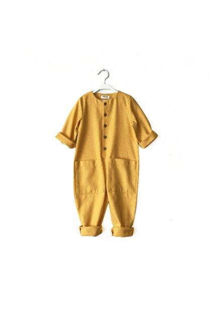 Catz Kids Bebek Sarı Kaşe Cepli Tulum
