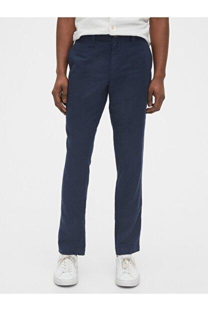 GAP Slim Fit Keten Khaki Pantolon