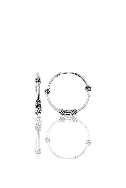 Söğütlü Silver Gümüş 17 Mm Oksisli Halka Küpe