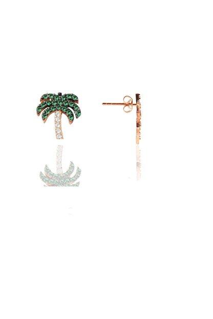 Söğütlü Silver Gümüş Palmiye Modeli Şans Küpesi