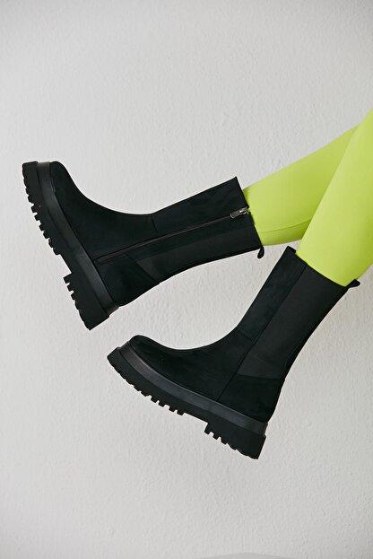 grazia shoes Kadın Siyah Bot