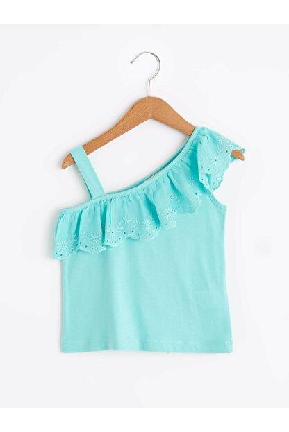 LC Waikiki Kız Çocuk Yeşil Tişört