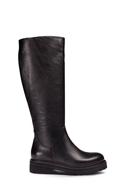 Deery Hakiki Deri Siyah Kadın Çizme 01807ZSYHE01
