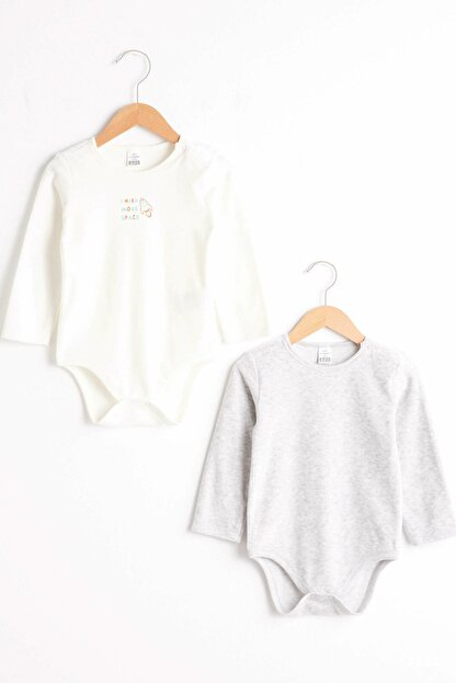 LC Waikiki Erkek Bebek Optik Beyaz E5X Bebek Body & Zıbın