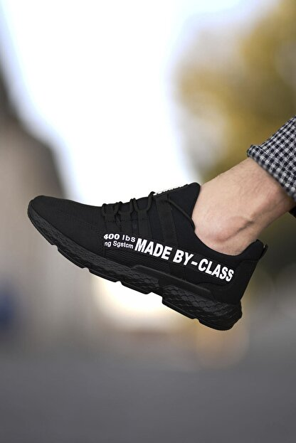 Riccon Siyah Beyaz Erkek Cilt Sneaker 0012SANTO